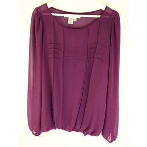 SALE! Studio M Pleated Double Layer Top
